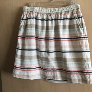 Striped elastic waist skirt size 6